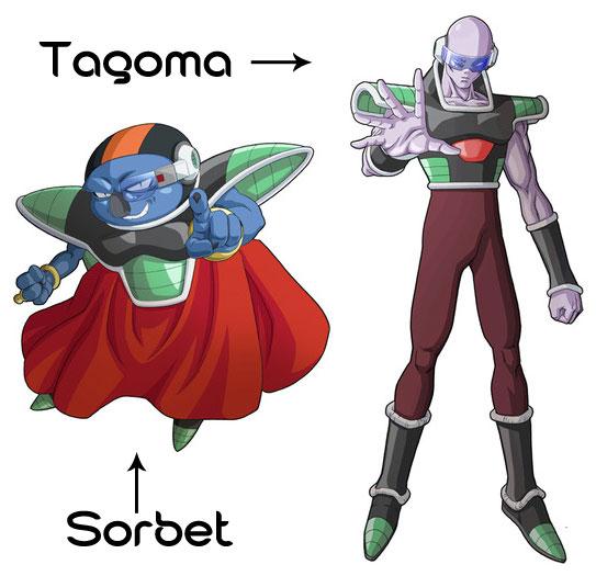 Sorbet and Tagoma in Dragonball Z: Resurrection