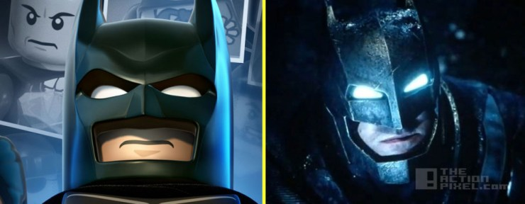 batman from lego and Batman V Superman: Dawn Of Justice
