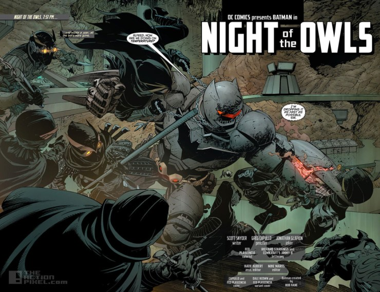 night of the owls. dc comics. the action pixel. @theactionpixel