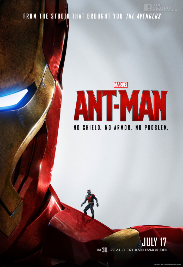 Ant-Man Iron Man poster. ant-man. marvel. the action pixel. @theactionpixel.