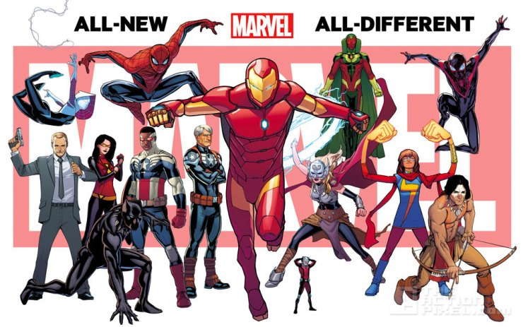 all new all different marvel. the action pixel. @theactionpixel