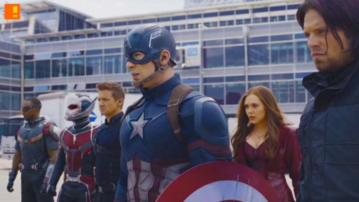 captain america .civil war. team cap. iron man. captain america Civil War. marvel. the action pixel. entertainment on tap. the action pixel.