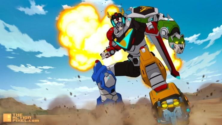 voltron banner. netflix. dreamWorks animation. the action pixel. @theactionpixel