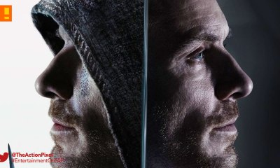assassin's creed, poster, Callum lynch, entertainment on tap, new regency, the action pixel, ubisoft, 20th century fox, poster, michael fassbender,