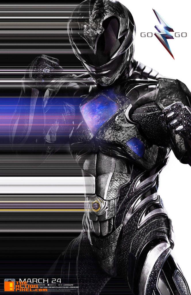 power rangers, saban, lionsgate, the action pixel, entertainment on tap, black power ranger, zord, zack,
