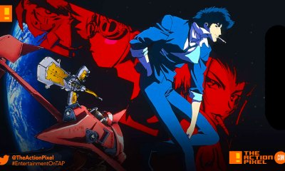 COWBOY BEBOP, Shinichirō Watanabe, Jet Black, Spike Spiegel, Faye Valentine, Edward, EIN,THE ACTION PIXEL, ENTERTAINMENT ON TAP,