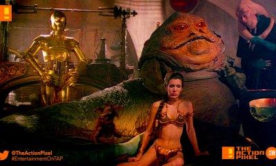 jabba the hutt, star wars, the action pixel, entertainment on tap,leia, threpio