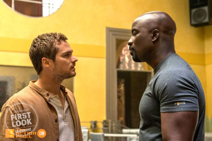 iron fist, luke cage, marvel, marvel entertainment, netflix, the defenders, defend, defenders, mike colter, iron fist, luke cage, luke cage season 2, season 2, photo, still, entertainment on tap, the action pixel,
