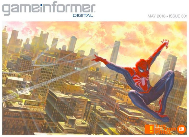 game informer , cover, alex ross, art, spider-man, spiderman, ps4, insomniac games, marvel , marvel entertainment, marvel games, the action pixel, entertainment on tap,
