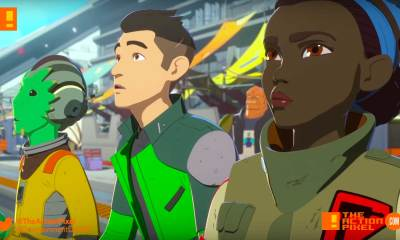 star wars resistance, star wars, the action pixel, disney xd, disney,kaz, bb8,poe, poster,fireball fireball team, sneak peek