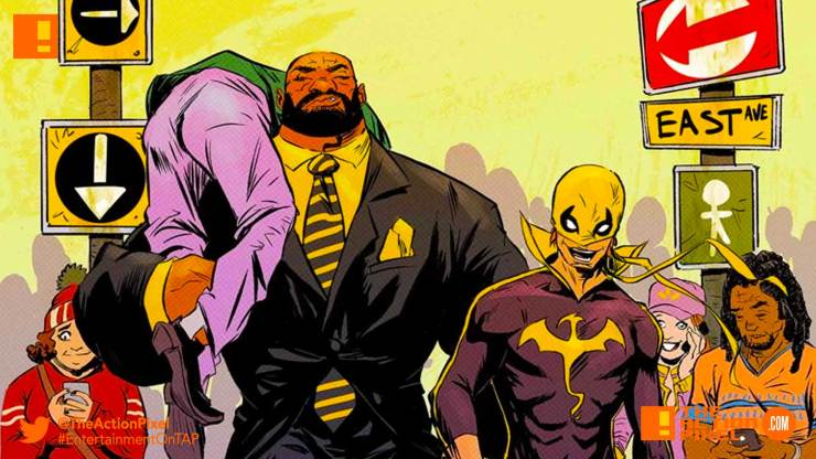 heroes for hire ,iron fist, power man, luke cage, marvel comics, marvel , entertainment on tap, the action pixel