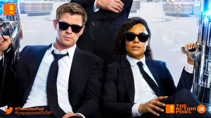 men in black, chris hemsworth, tessa thompson, men in black international , MIB international, trailler entertainment on tap,