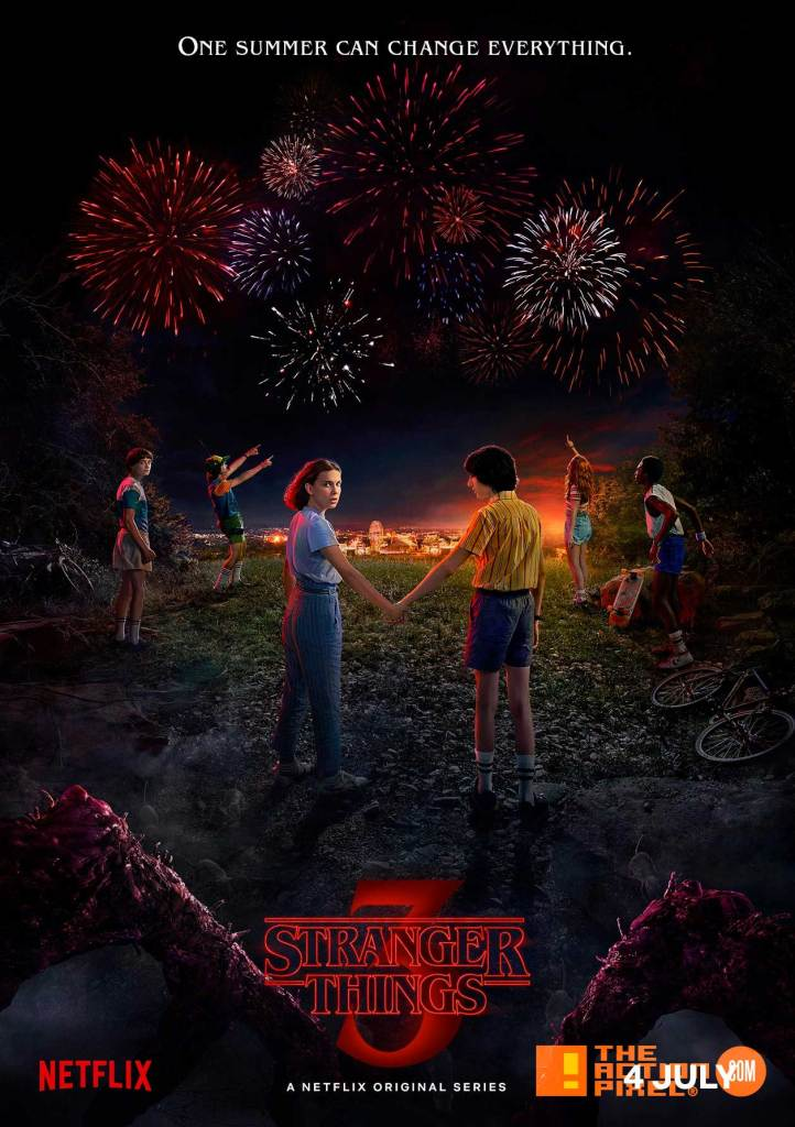 stranger things 3, poster , netflix, the action pixel , entertainment on tap, eleven,