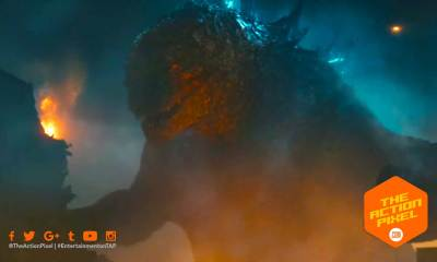 ghidorah, mothra, godzilla, rodan, poster, warner bros. pictures, trailer, character poster, trailer 2,godzilla: king of the monsters, godzilla, millie bobby brown, the action pixel, entertainment on tap, atomic breath,