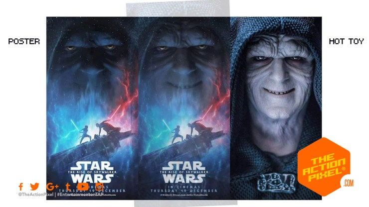 the rise of skywalker, star wars, star wars: the rise of skywalker, star wars the rise of skywalker, the rise of skywalker poster, star wars poster, rey, kylo, palpatine, d23 expo, emperor palpatine, HOT TOY,
