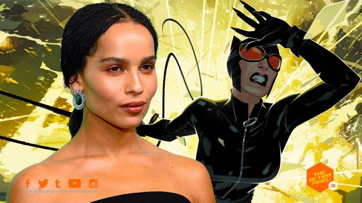 zoe kravitz, catwoman, the batman, casting , the batman cast, entertainment on tap, the action pixel, catwoman