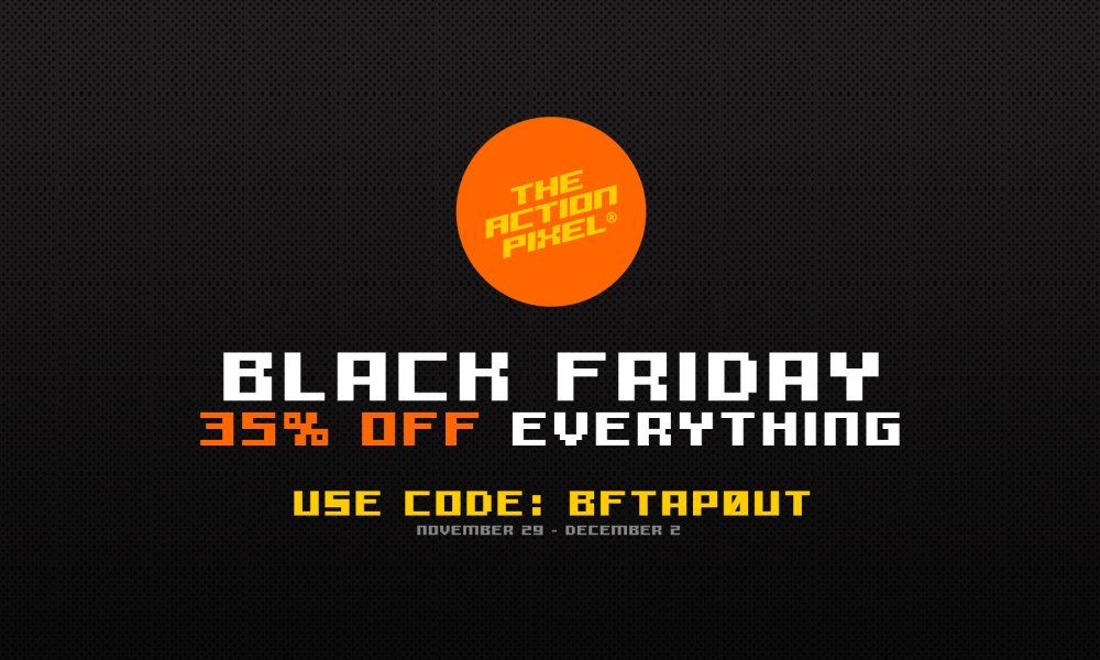 black friday, the action pixel, black friday deal, black friday sale, sale, tshirt sale, tshirts, discount coupon, taptees, style on tap the action pixel store,