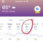 2019 Cleveland Marathon Weather