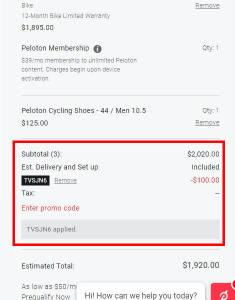 apply peloton promo code