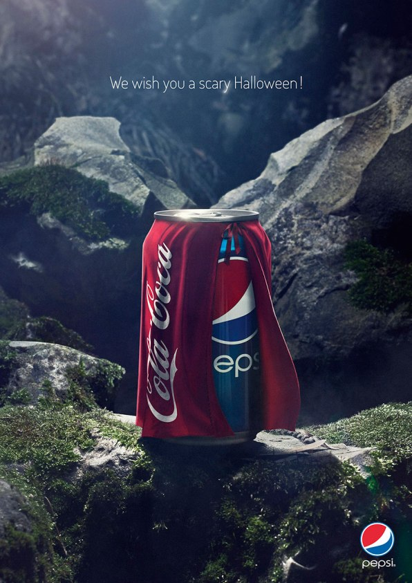 Pepsi Ad during Halloween showing that they are better than Coke.