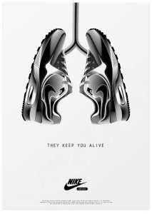 nike ad analysis nike shoes like lungs