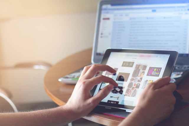 laptop technology iPad tablet for digital advertising