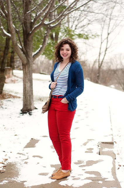 Crimson and Blue outfit