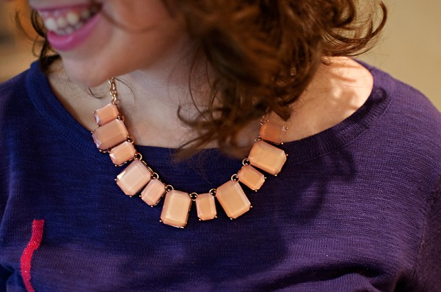 Forever 21 pink statement necklace