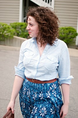 Gingham with Printed Skirt
