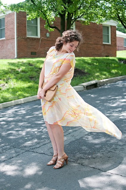 LabWorks Hi Low Dress with Rad Market Necklace
