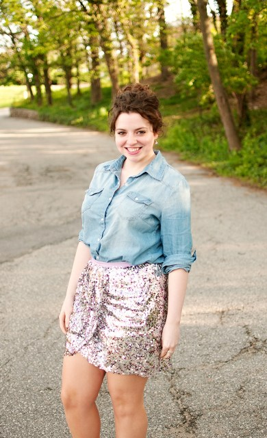J Crew Collection Sequin Skirt
