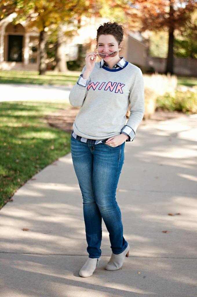 Gap Wink Sweater Casual Outfit