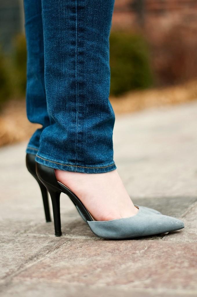 BCBG Grey Heels