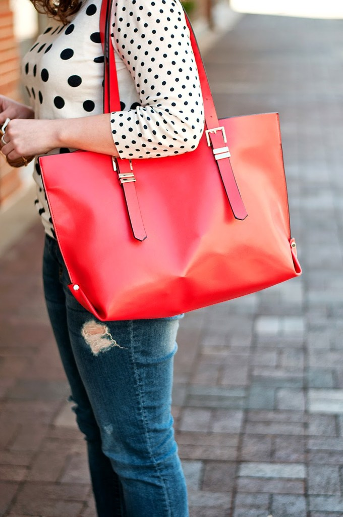 Red Leather Zara Bag