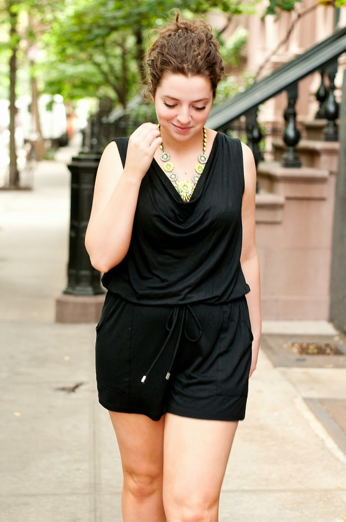 Black shorts jumpsuit
