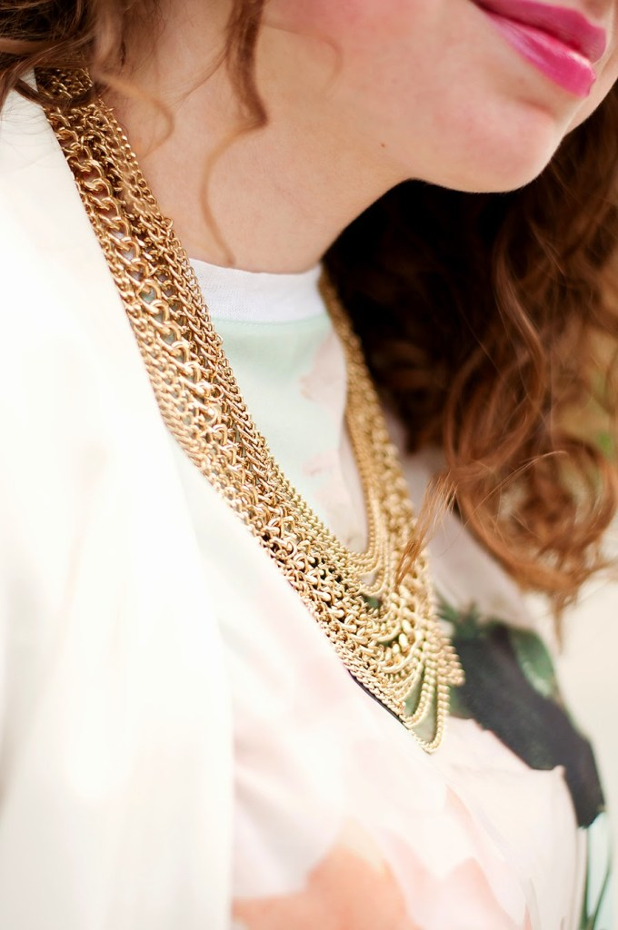 Gold Fringe Necklace from Hello Cheeseburger