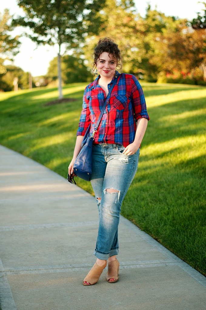 Plaid fall outfit idea