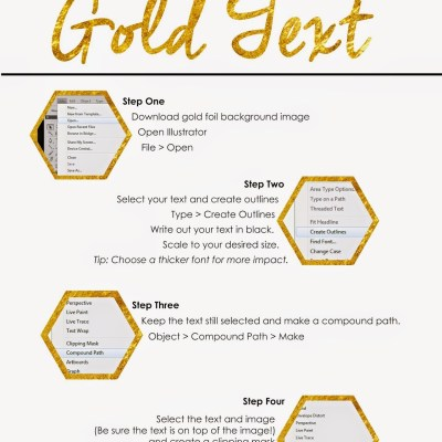 How To Create Gold Text