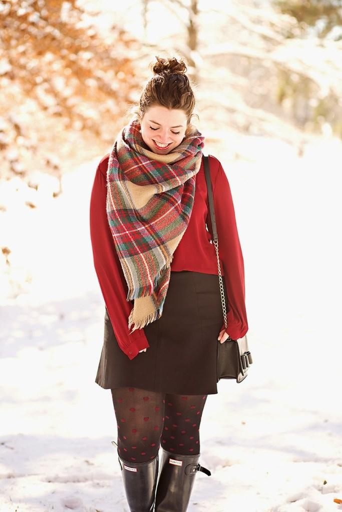 Winter Snow Day Outfit Idea // theadoredlife.com