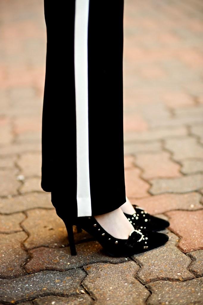 Black Studded Heels