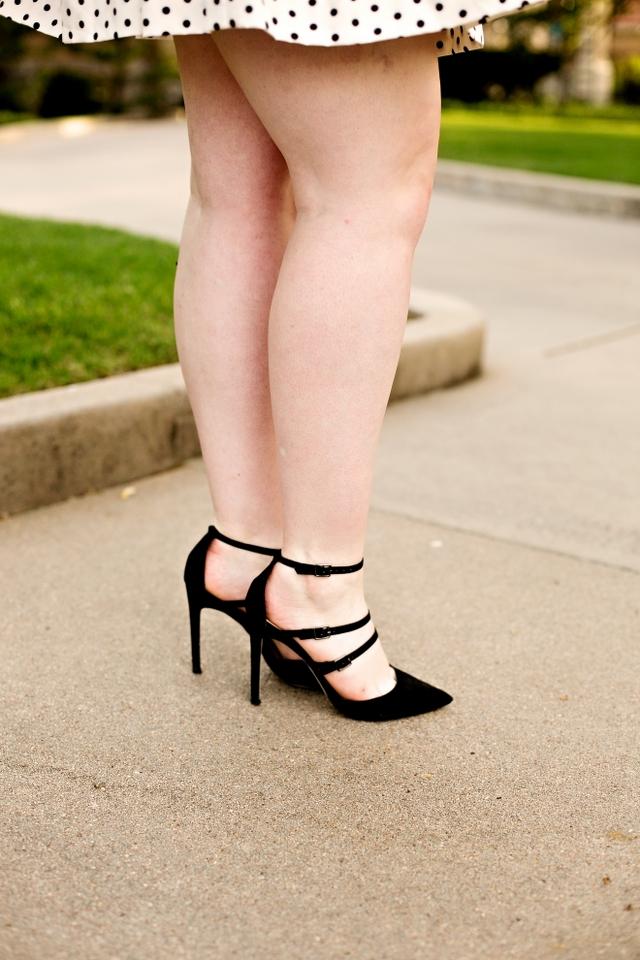 ASOS black strappy heels