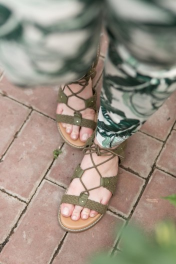 Old Navy Lace-Up Green Sandals | theadoredlife.com