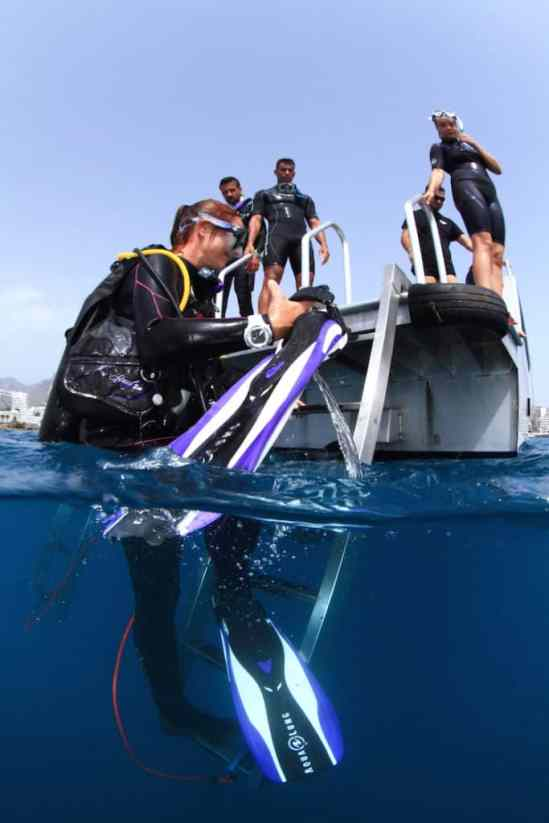 rescue scenarios at the diver course