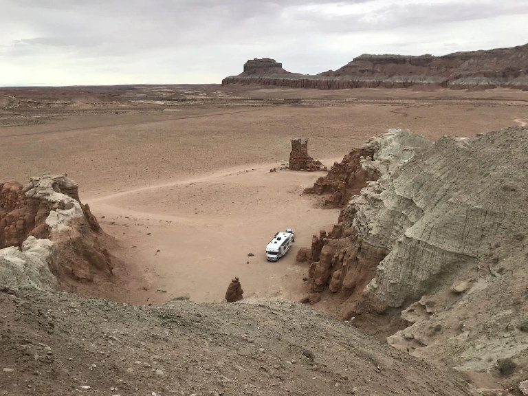 Outside Goblin Valley The Adventure Travelers