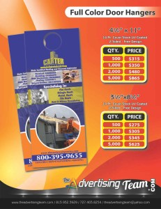 full color door hangers