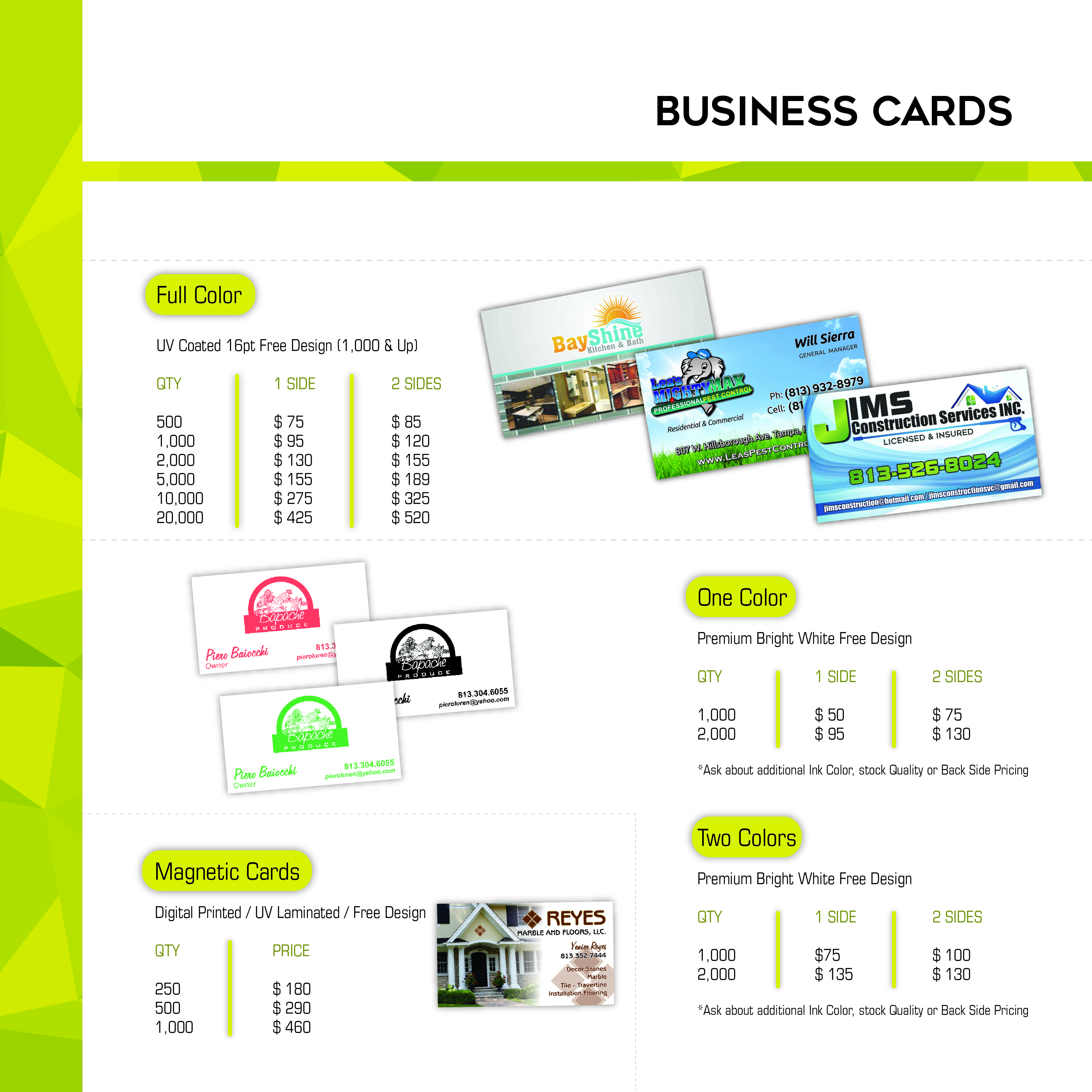 Business card pricing gallery free business cards printing pricing the advertising team the advertising team printing pricing magicingreecefo gallery magicingreecefo Image collections