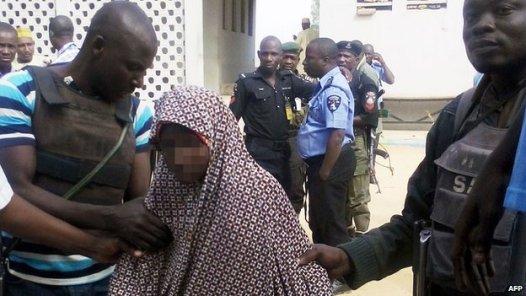Image result for Police arrest female suicide bomber in Maiduguri