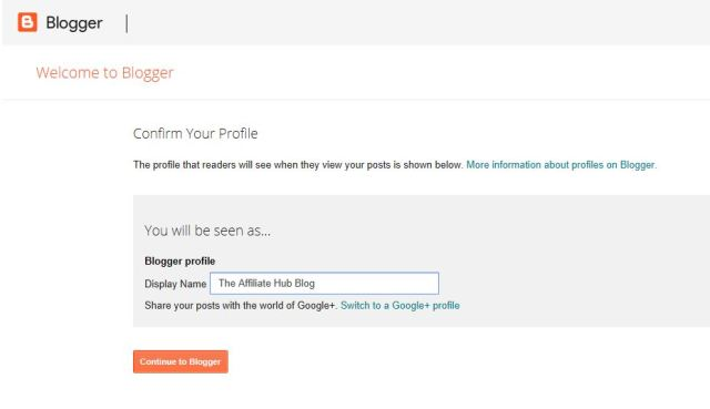 Creating a new blog with Blogspot