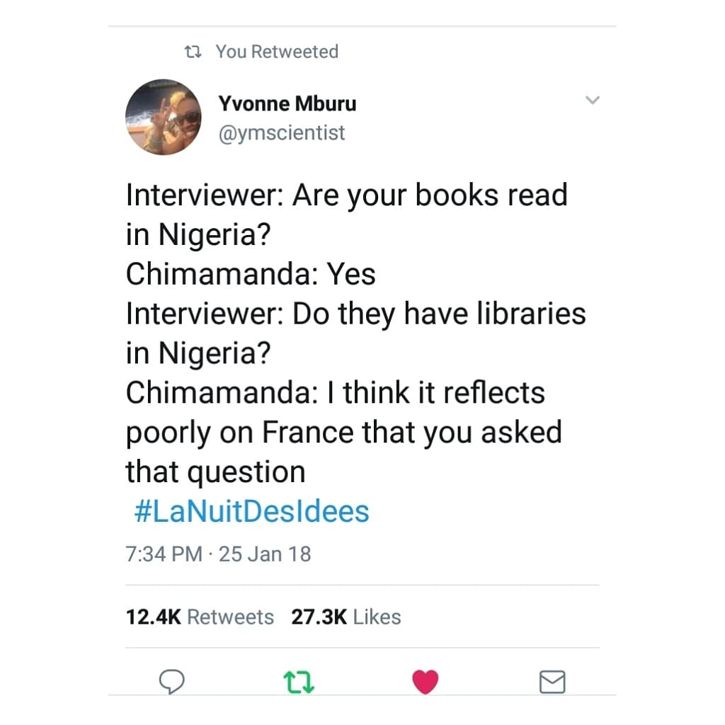 On Bookshops - Not Libraries - In Nigeria : Chimamanda Ngozi Adichie