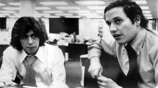 <i>Washington Post</i> journalists Carl Berstein and Robert Woodward brought down US president Richard Nixon with their Watergate investigation.